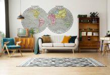 Droga do pięknej aranżacji, czyli naklejki z mapą w różnych odsłonach