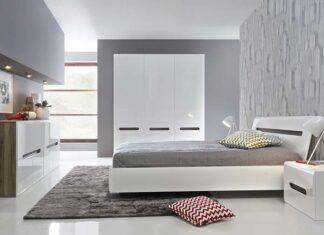 Meble do sypialni w stylu glamour