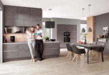 Modne meble do kuchni: imitacja betonu